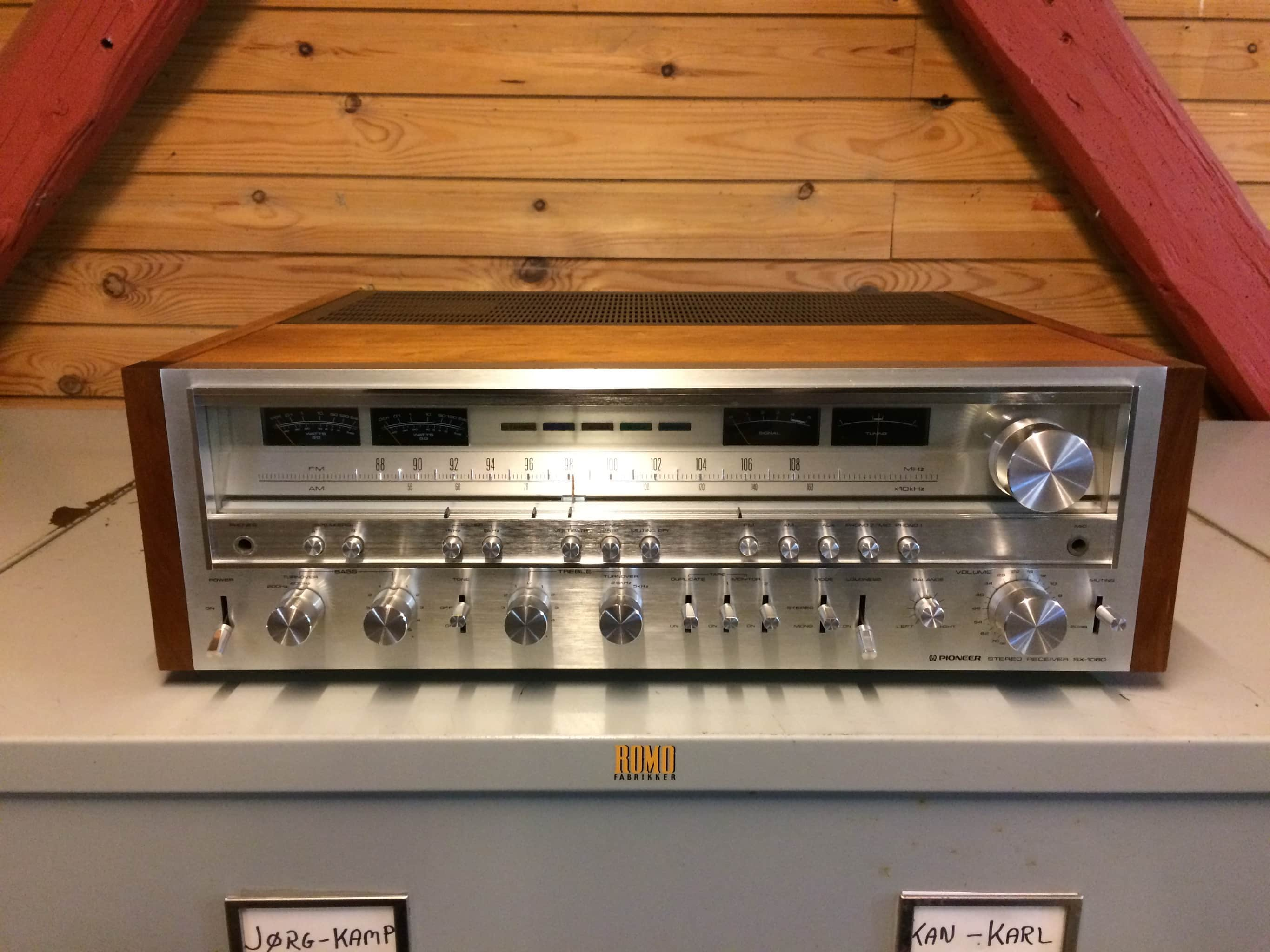 Pioneer SX-1080 - newly serviced vintage receiver - SOLD